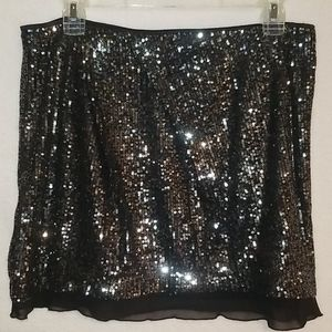 "Jennifer Lopez Sequin ""Mini"" Skirt W/ Lining Sz 8"
